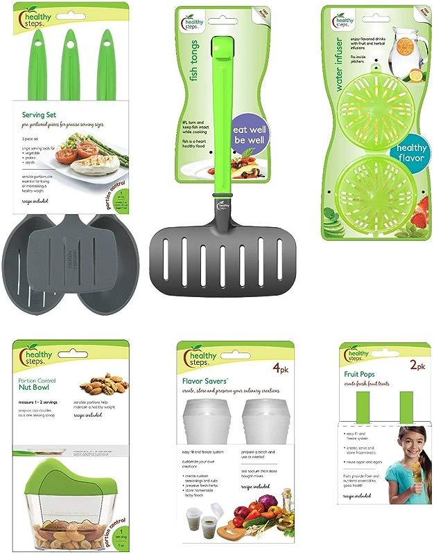 Jokari Healthy Steps Portion Control Diet Weight Loss 12pc Utensil Set