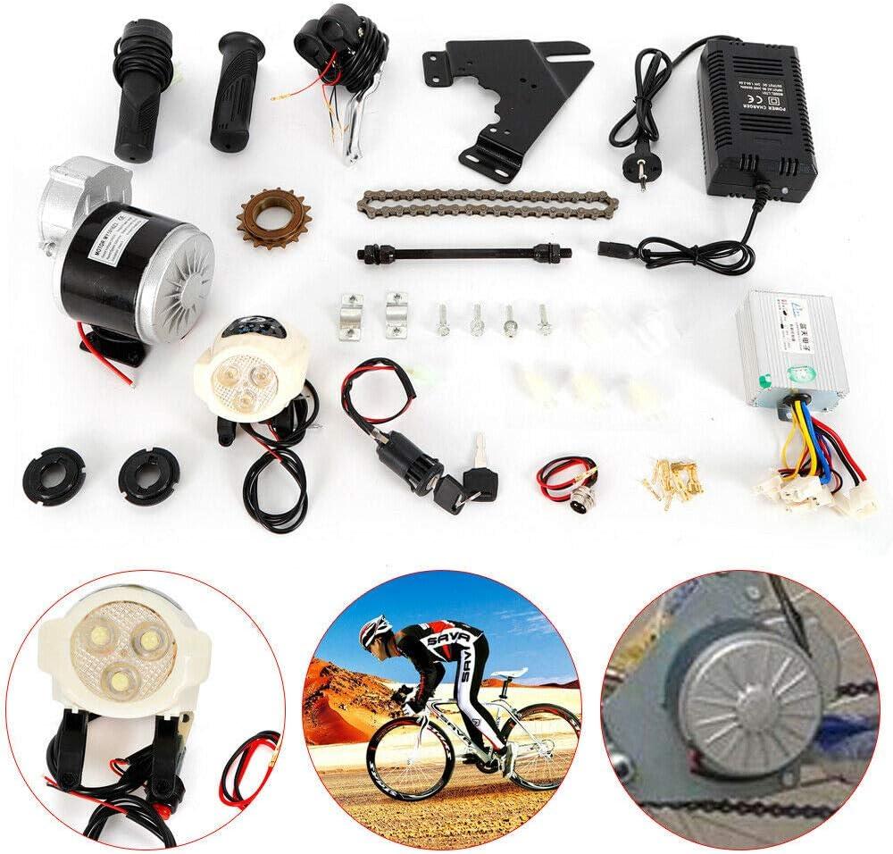 OU BEST CHOOSE Kit de conversión para bicicleta eléctrica de 22 a 28 pulgadas, controlador de motor para bicicleta eléctrica, 24 V, 350 W