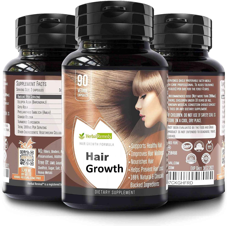 HR Organic Hair Growth Supplements Longer Thicker Hai Max 90% OFF - Popular Fuller