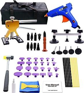 WUPP - Herramientas de reparación de abolladuras para coche, 59 piezas, kit de extracción de abolladuras para reparación d...