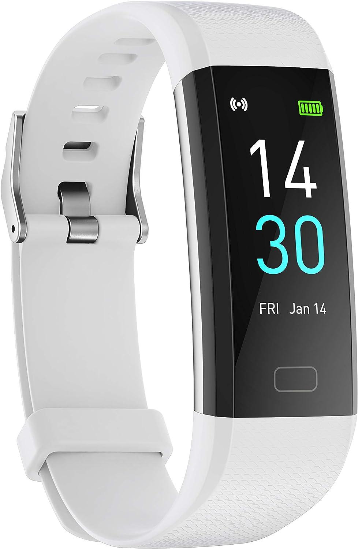 Amaxos Reloj inteligente Ax 52 con monitor de presión arterial y oxígeno IP68, resistente al agua, pulsera de fitness con frecuencia cardíaca…