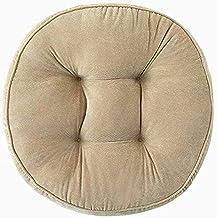 Almofada de cadeira Almofada de assento de veludo cotelê grosso, almofada de piso redonda, poltrona multifuncional Almofad...