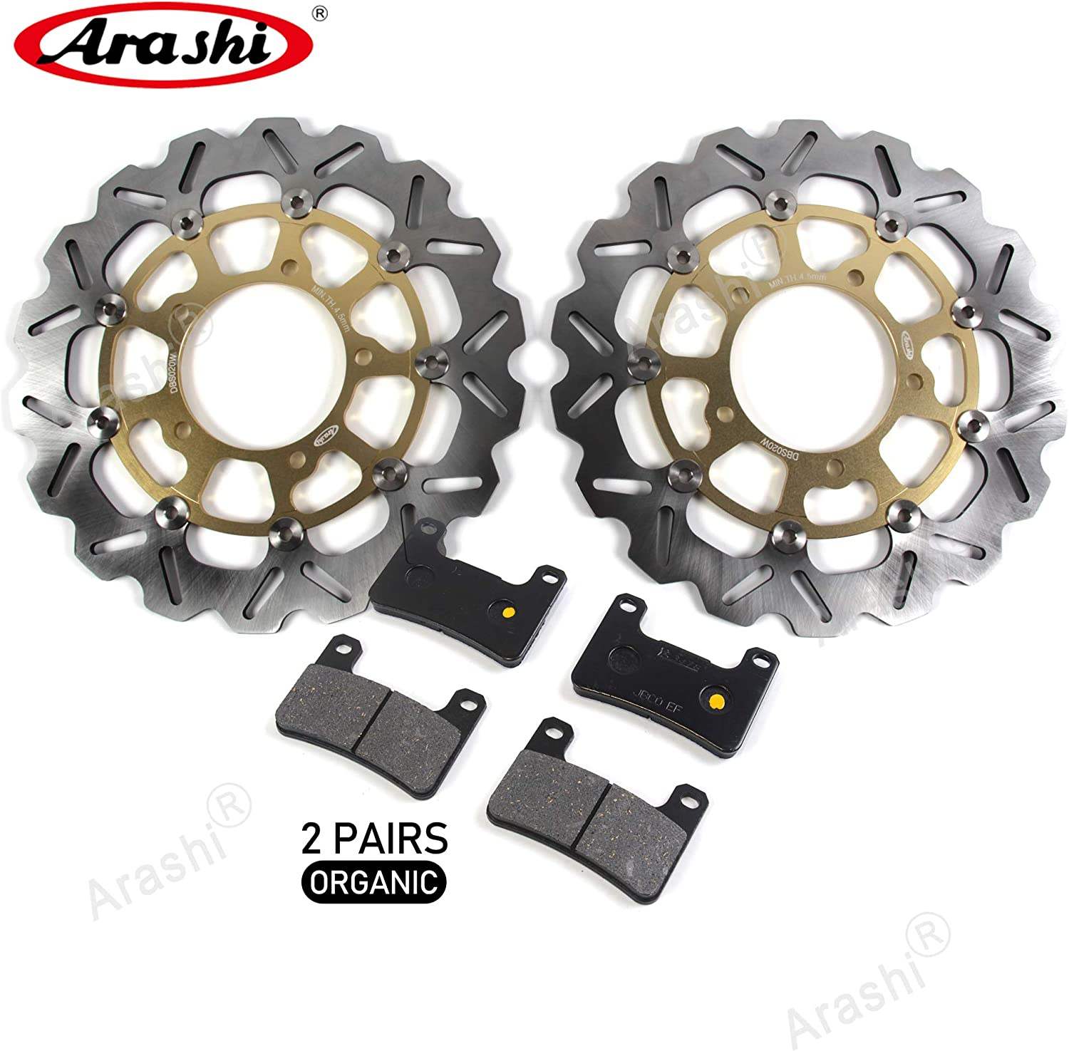 Arashi New Shipping Free Front Brake Rotors Disc and Suzuki OFFicial shop 600 Pads GSXR Kit for