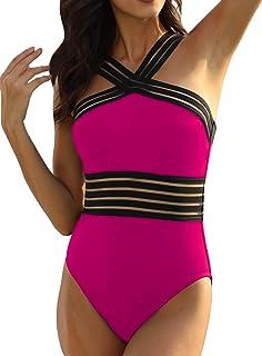 Mycoco Women's Swim Skirt High Waisted UV 50+ Modest Swimsuit with Built-in Brief Tankini Bottom
