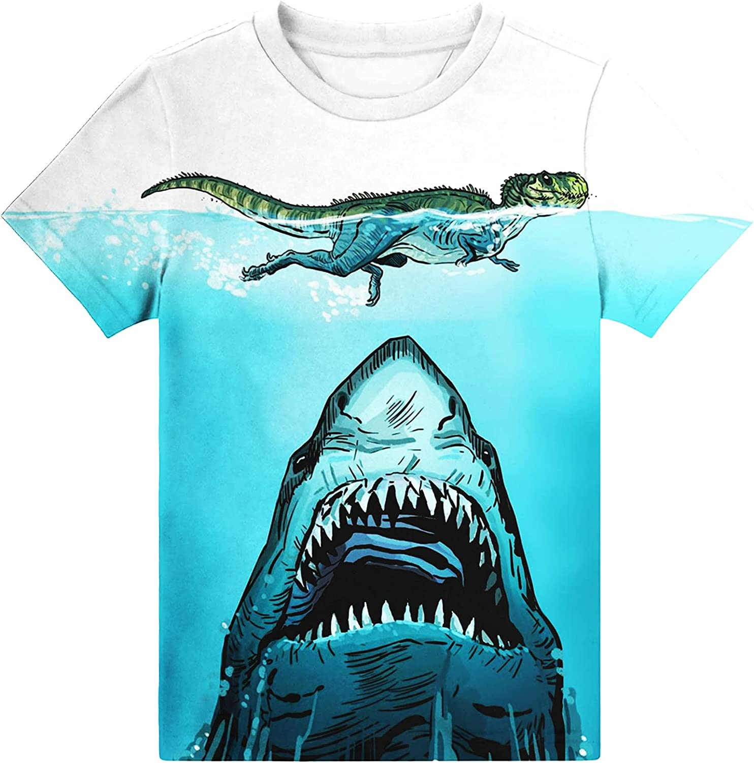 Hgvoetty Boys Girls 3D Shirts Graphic Kids T-Shirt Crewneck Short Sleeve Top Tees for 6-16 Years