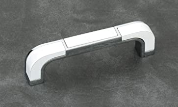 RAIDER, Fancy Cabinet Handle, CP/White Finish, Zinc Alloy, 288 MM (12 Inch), 8 PCS