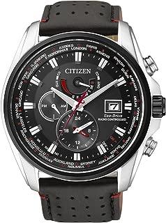 AT9036-08E - Reloj para hombres, correa de cuero, color negro