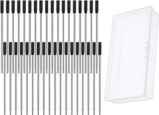 36 Pieces Cross Compatible Pen Refills Metal Ballpoint Pen Refills 1.0 mm Ink Pen Refills with Clear Plastic Pen Box for H...