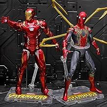 Vengadores: Final De Partida De Hierro del Hombre Araña De Iron Man Niños 18CM El Papel del Juguete Figura De Acción De Recurso Hot Toys Iron Man + Spiderman