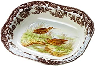 Spode Woodland Open Vegetable Dish with Snipe