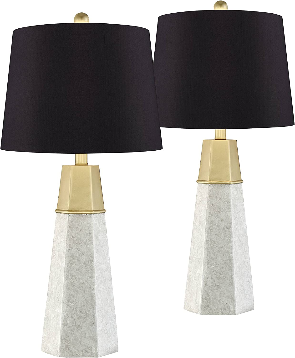 Deluxe Julie Mid Brand new Century Modern Contemporary Table Faux Lamps of 2 Set