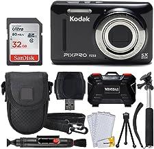 دوربین دیجیتال Kodak PIXPRO FZ53 (سیاه) + کارت حافظه 32 گیگابایتی + کارت لوکس و نقطه شلیک + کیف قابل شارژ دوربین + مونوپود قابل تمدید + قلم تمیز کننده لنز + محافظ صفحه نمایش LCD