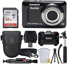 Kodak PIXPRO FZ53 Digital Camera (Black) + 32GB Memory Card + Deluxe Point and Shoot Camera Case + Extendable Monopod + Lens Cleaning Pen + LCD Screen Protectors + Table Top Tripod – Ultimate Bundle