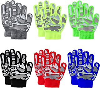 6 Pairs Kid Winter Gloves Boys Gloves for Kids Winter...