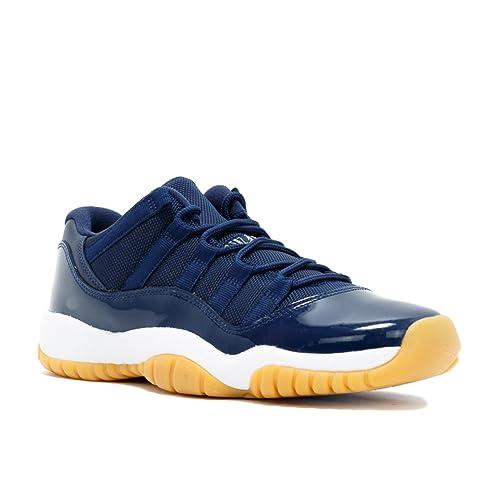 new york e09a8 d6a40 Nike Air Jordan Retro 11 XI Low Midnight Navy Gum 528896-405 4Y-7Y
