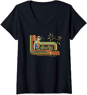 Femme Stranger Things Dusty Bun Saving The World T-Shirt avec Col en V