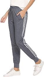 Pantalon de Jogging Femmes,100% Coton Pantalons de