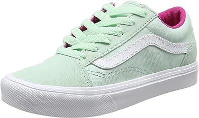 Vans UY Old Skool Lite, Baskets Basses Fille, Vert (Pop Bay/True ...