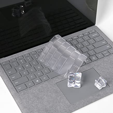 """Ultra Thin Clear Keyboard Cover for Microsoft Surface Laptop 2 2018, Surface Laptop 2017, Surface Book, Surface Book 2 13.5"""" and 15"""", Soft-Touch TPU Keyboard Skin, Us Layout"""
