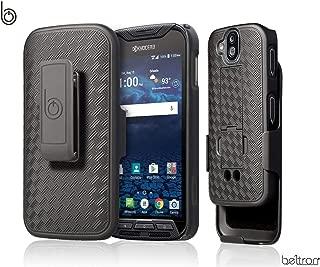 DuraForce Pro Case with Belt Clip Holster, Heavy Duty Slim Shell Holster Combo with Built-in Kickstand for Kyocera Duraforce Pro 1 E6810 E6820 E6830 E6800 E6833 (AT&T Sprint Verizon Unlocked) - Black
