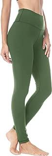 QUEENIEKE Women Yoga Leggings Pants Workout Running Peach Hip(M, Army Green)