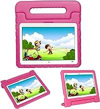 i-original Compatible with Huawei MediaPad M3 Lite 10.1 Inch BAH-09 Kids Case Stand,Eva Foam Shockproof Protective Carry Handle Lightweight Tablet Holder Cover for Toddlers Children (Magenta)