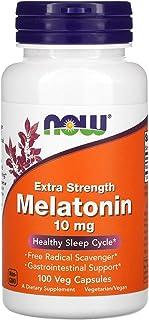 المكمل الغذائي ميلاتونين للقوة الاضافية من ناو فودز، 10 ملغ، 100 كبسولة نباتية