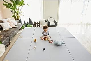 ALZIP MAT Eco Color Folder Urban, Folding Play Mat Eco-Friendly Non-Toxic Non-Slip Reversible Waterproof (G+ (87x55 inch), Grey)