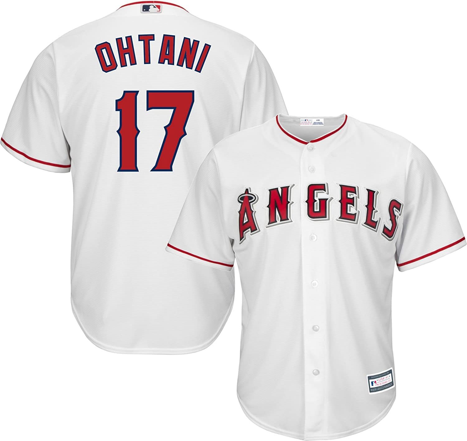 (Large 14 16)  Shohei Ohtani Los Angeles Angels 17 White Youth Cool Base Home Replica Jersey