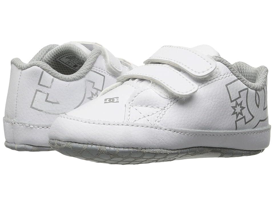 DC Kids Court Graffik (Infant/Toddler) (White/Silver) Kids Shoes