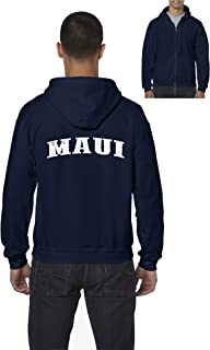 Maui American States Mens Hoodies Zip Up Sweater
