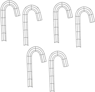Christmas Metal Candy Cane Shaped Wreath Frames Pack of 6