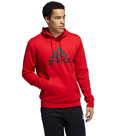 adidas Back to School Badge of Sport Hoodie (Scarlet/Black) Men