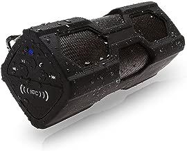 ELEGIANT portátil Mini Altavoz Portable Outdoor Sport Boombox Bluetooth estéreo V4.0Resistente al Agua Resistente al Polvo antigolpes NFC Altavoz 2en 1Funciones con 3600mAh Power Banco Negro
