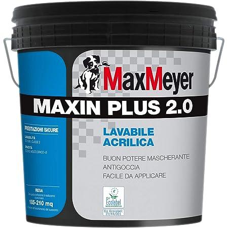 Pittura Murale Idropittura A Base Acrilica Maxin Plus 2 0 Ecologica Certificata Ecolabel Per Interni Bianca Lt 14 Max Meyer Amazon It Fai Da Te