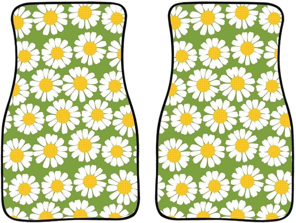 AFPANQZ Green Carpet Car Floor Mat Flowers 10%OFF Print Pretty 超定番 Daisy Au