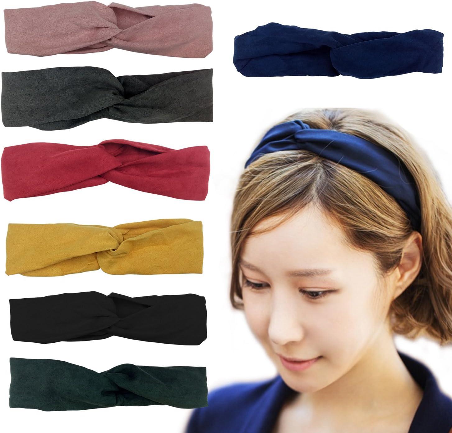 Girls Kids twist knot pattern headband elastic head wrap turban hair band colour