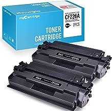 myCartridge 2Unidades Compatible HP CF226A 26un Cartucho de tóner para Uso en Laserjet Pro M402N, m402dn, m402dw, MFP m426fdw, MFP M426fdn Serie