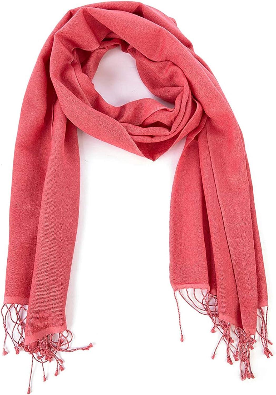 c0b2291b TS Pashmina Nepal pashmina scarf corallo women's npsmaz2372-New Clothing