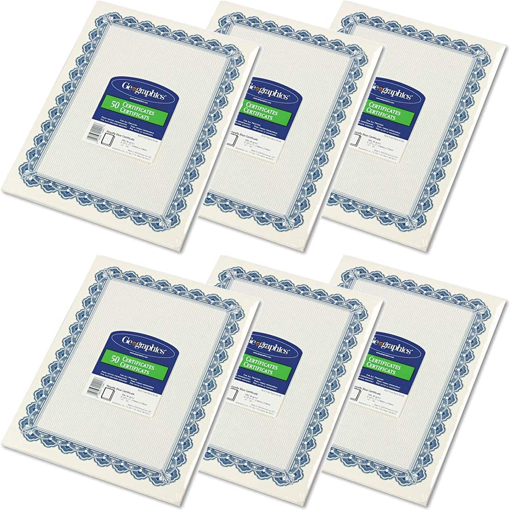 Geographics Parchment Max 55% OFF Paper Certificates 8.5 11 x Max 59% OFF Inches Blue