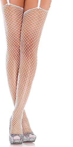 Leg Avenue Women's Unfinished Top Industrial Fishnet Stockings