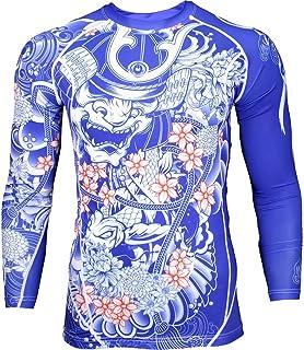Rash Guard Grips Bushido Limited Edition – Compression Shirt Long Sleeve – No-Gi Jiu Jitsu MMA Grappling BJJ