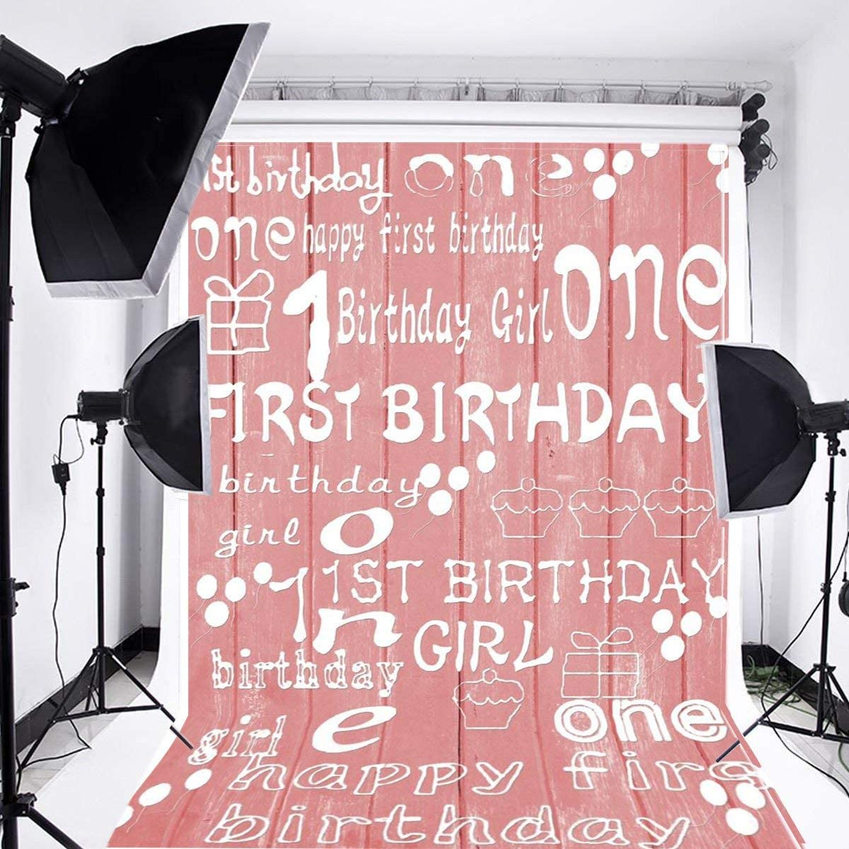 OFFicial Laeacco 3x5ft Sweet Pink Tone Wooden Backdrop Party Birthday Rapid rise One