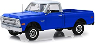 1970 Chevrolet C-10 Pickup Truck with Lift Kit Dark Blue with White Top 1/18 Diecast Model Car by Highway 61 18011