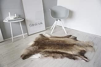MILABERT Genuine Super Soft - Extra Large Scandinavian Reindeer Skin - Rug | Hide | Pelt - RE 370