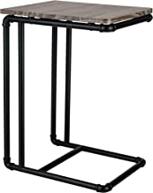 Organize It All Accessories Industrial Pipe Side End Table Brown