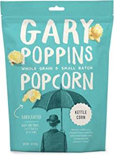 Gary Poppins Popcorn - Gourmet Flavored Popped Popcorn - 4 Pack Kettle Corn (7oz)