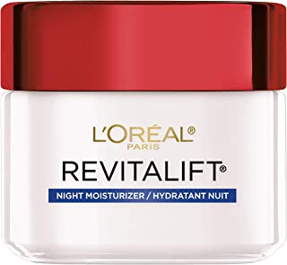 Night Cream By L'Oreal Paris Skin Care, Revitalift Anti-Wrinkle & Firming Night Cream Face Moisturizer With Pro-retinol, Paraben Free, 2.5 Ounce