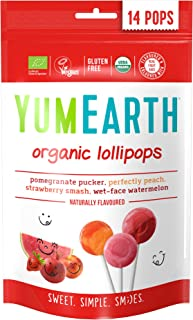 Yum Earth Organic Fruit Pops, 14 x 85 gm