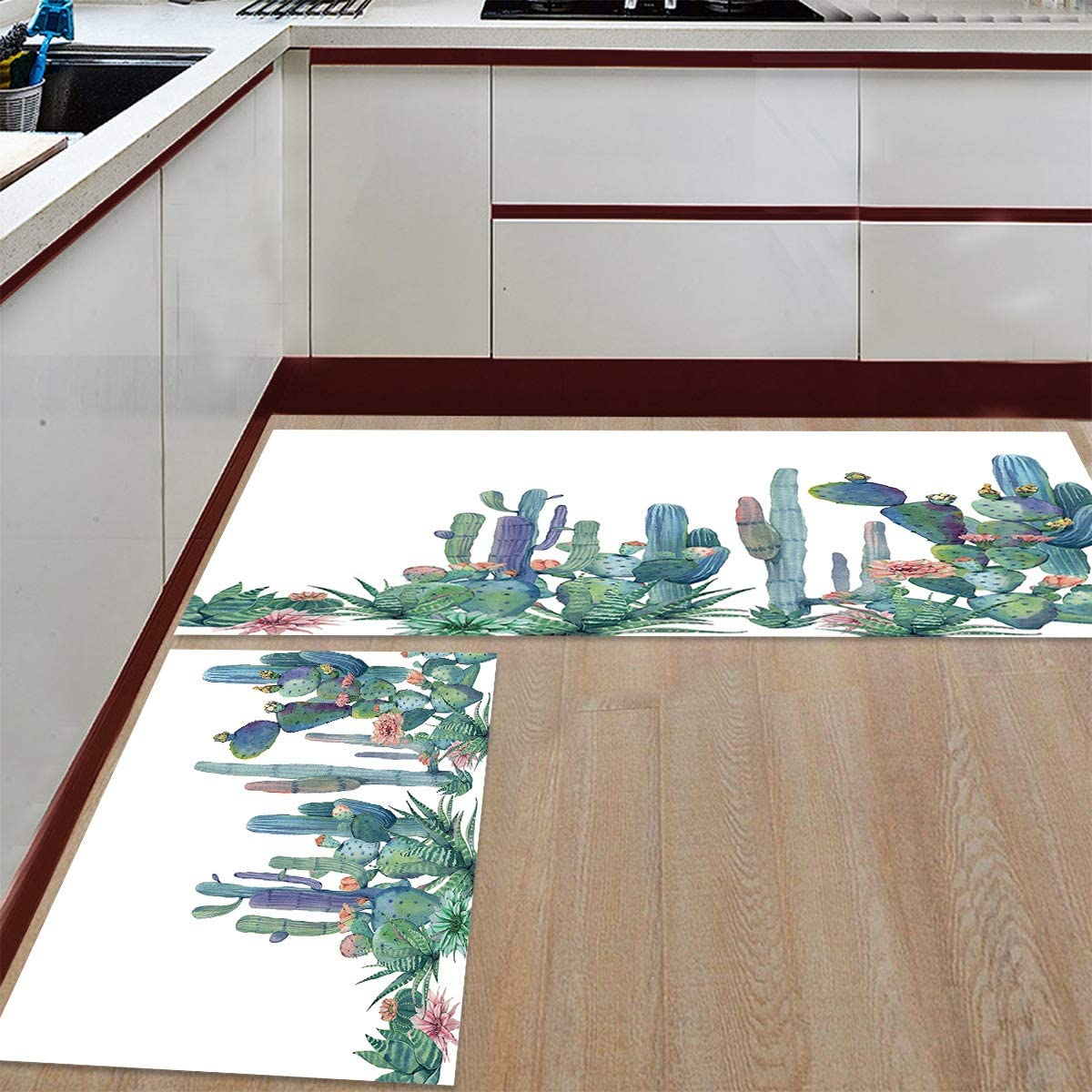 Prime Leader Kitchen Mat and Rugs Very popular 2 Max 41% OFF Dur Cactus Set of Tropical